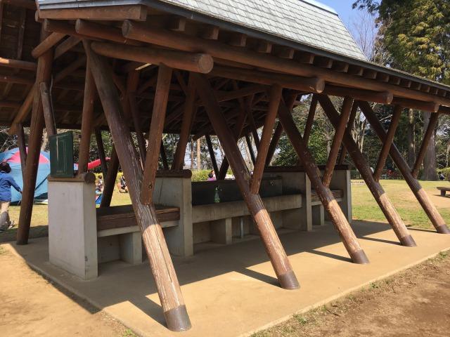千葉県成田市坂田ヶ池総合公園のキャンプ場、炊事場