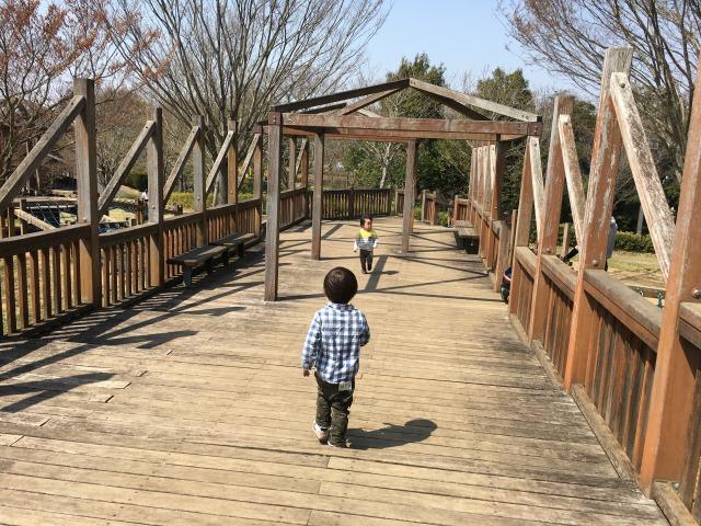 千葉県成田市坂田ヶ池総合公園の遊具の様子