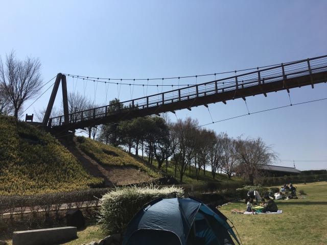 千葉県成田市坂田ヶ池公園、大きな橋があるよ