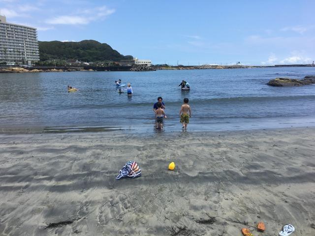 南房総の白浜への旅:塩浦海水浴場7