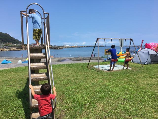 南房総の白浜への旅:塩浦海水浴場6