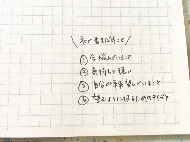 悩みを解決するノートの作り方:表を活用して書き出す